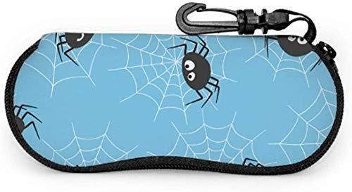 Spider Black Cool Netting Insect Child Eyeglass Case Boy Glasses Case Light Portable Neoprene Zipper Soft Case Childrens Sunglass Case