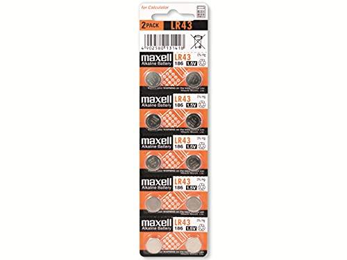 Oferta de Maxell Lr43 1.5V Micro - Pack de 10 Pilas Alcalinas