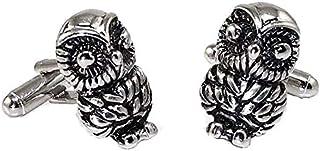 Gemelli da polso per camicia Gufo portafortuna - Owl Cufflinks - Made in Italy