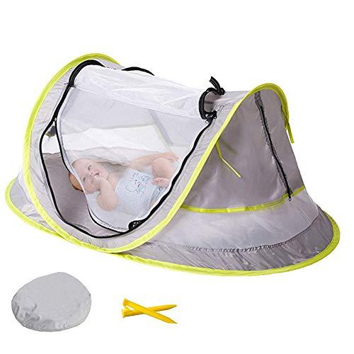 Gong Cama De Viaje Portátil para Bebés, Carpa De Playa Emergente, Protección UV, Mosquitera Plegable para Bebés