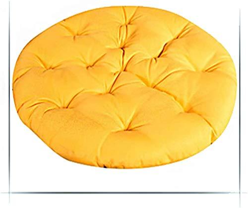 Presidente del amortiguador, rondando extraíble huevo Hamaca silla Cojines, hunden en nuestras gruesa de gran tamaño cómodo B Diameter130cm (51inch), Tamaño: Diameter120cm (47inch), Color: blanco-crem