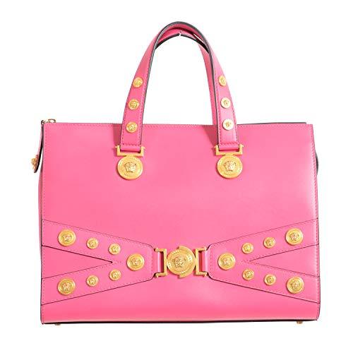 Bolsa feminina Versace 100% couro rosa bolsa de ombro