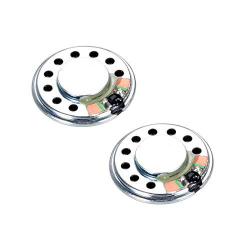 sourcing map Altavoz De 0,5 W 8 Ohmios 26mm Forma Redonda para DIY Audio Altavoces Bocinas 2 pcs