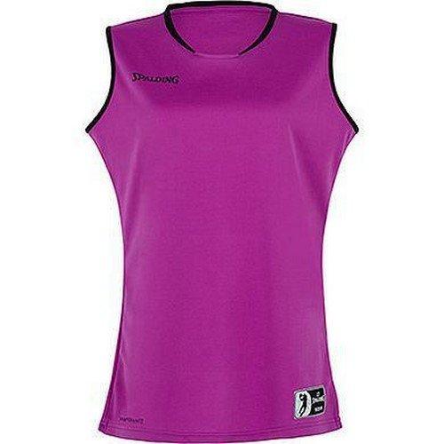 Spalding Move Tank Top Women Camiseta De Juego para Mujer, Ciruela/Negro, XL
