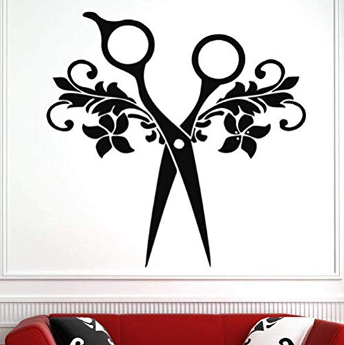 Wandaufkleber Abziehbilder Tapete Hari Salon Werkzeuge Schönheitssalon Muster Abnehmbare Wasserdichte Kunst Vinyl Schlafzimmer Wohnzimmer Wohnkultur 57X57 Cm