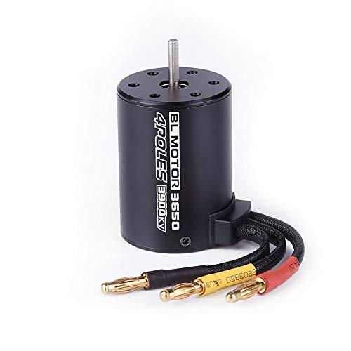 Shaluoman 3650 3900KV Brushless Motor for 1/8 1:8 1/10 1:10 RC Car Truck Model Parts Black