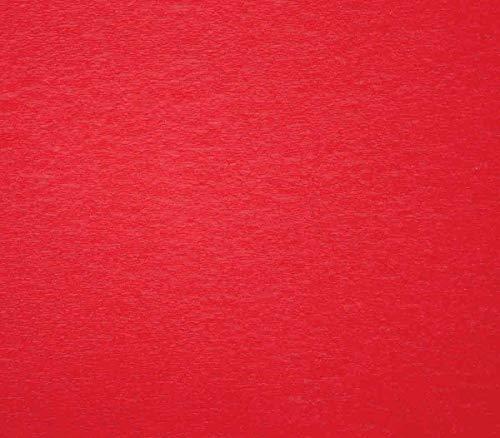 CTOP – Loisir créatif – Papier crépon Rouge, Une Feuille de 50cm x 2m