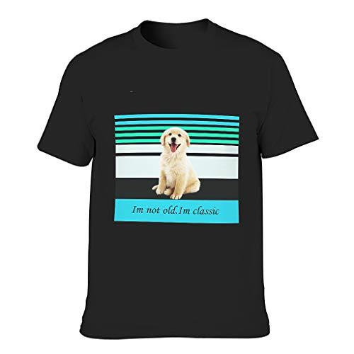 Herren Baumwoll-T-Shirt Ich Nicht alt. Im Klassiker Neuheit lustig atmungsaktiv - Tiere Thema T-Shirt Black 4XL