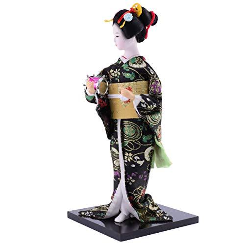 FAVOMOTO Geisha Japanische Figur Puppe Geisha Puppe Weibliches Modell Figur Sammlerstück Figur Dekoration Geschenk Kokeshi Handwerk Home Dekoration