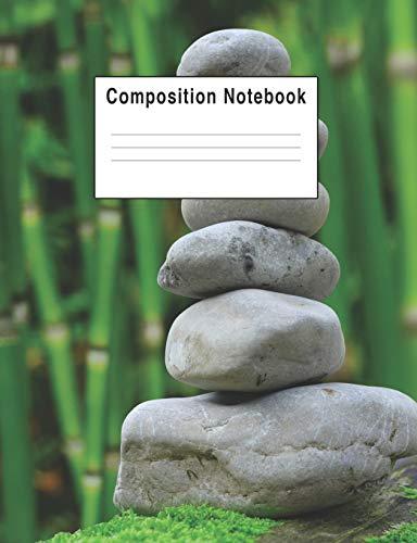 Composition Notebook: Zen Bamboo Rocks