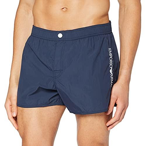 Emporio Armani Swimwear Shorts Embroidery Logo Costume da Bagno, Black, 46 Uomo
