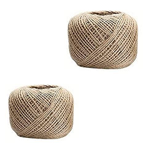 PINGDONGHANG 2 unidades de muchos tamaños de cordón natural Artscrafts cordel de jardín cuerda decorativa para manualidades de bricolaje