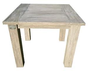Strandgut07 Teakholz Tisch Esstisch recycelt finish, grau, ca. 90 x 90 cm