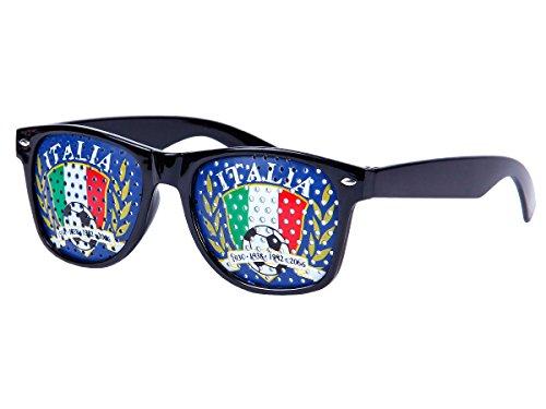 Alsino WM Lochbrille Pinehole Fanbrille Fussball Brille Länderbrille Gitterbrille Rasterbrille, wählen:V-1153 Italien