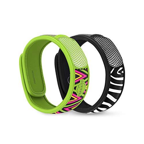 Para'Kito Mosquito Repellent Bonus Pack - 2 Wristbands   2 Refills (Inka + Zebra)