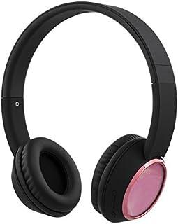 STREETZ HL-344 kabel avtagbara hörlurar över örat – rosa/svart