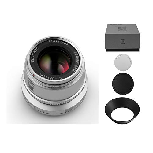 TTartisan 35mm F1.4 APS-C Festkameras Objektiv mit großer Blende Manueller Fokus Kompatibel mit Canon M Mount M1 M2 M3 M5 M6 M6II M10 M50 M100