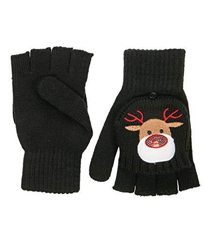 YSTRDY Klapp-Handschuhe mit Rentier-Motiv (424-530)