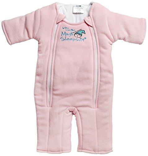 Baby Merlin's Magic Sleepsuit - Swaddle Transition Product - Microfleece - Pink - 6-9 Months