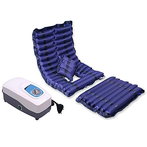 Alternating Pressure Mattress, Inflatable Bed Air Topper Pad for Bed Sore for Pressure Ulcer and Pressure Sore Relief Bedridden Management Includes Electric Pump System,Powerful pump,With hole