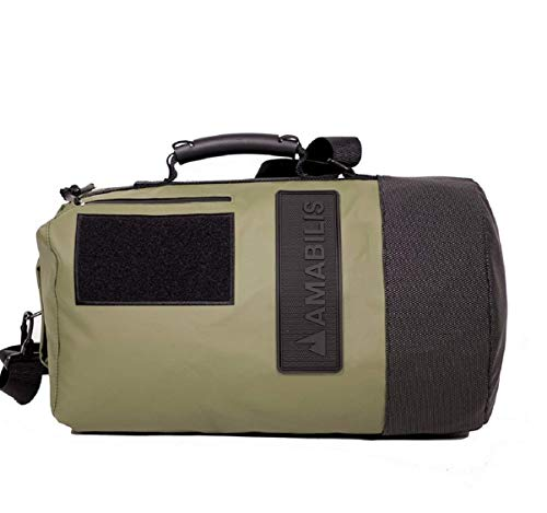 AMABILIS Dave Jr Waterproof, Heavy Duty Duffel Bag, 18 x 10 Inches - 23 Liters/1413 cu.in., Military Green