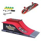 KETIEE Mini Skateboard per Dita e Set di Accessori per Rampa, Mini Finger Toy Skatepark Rampe Skate Park Kit (E)