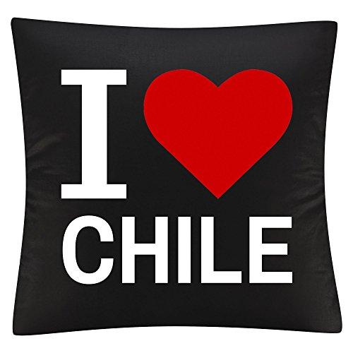 Almohada Cojín Classic I Love Chile Negro
