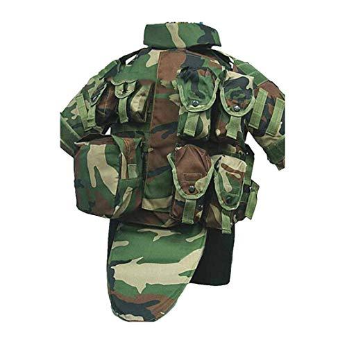 YANODA Jagd Weste Interceptor Modular OTV Körperschutz Tactics Vest Outdoor Molle Jagdweste for Airsoft Paintball Protector Jacke (Color : Army Green)