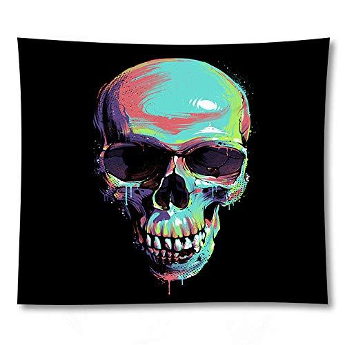 WAXB Tapiz Halloween 3D Esqueleto Tapiz Estera Colgante De Pared Tela De Poliéster Esterillas De Yoga Toalla De Playa Decoración del Hogar Decoración Hogar Regalo 51 X 59 Pulgadas