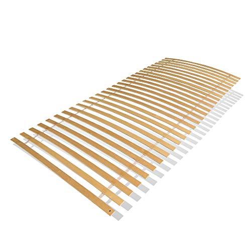 wolketon Somier Colchón, somier Enrollable 90 * 200/100 * 200cm lámina de Madera para somier Resistente con 28 Placas de Cama 6 Agujeros para atornillar