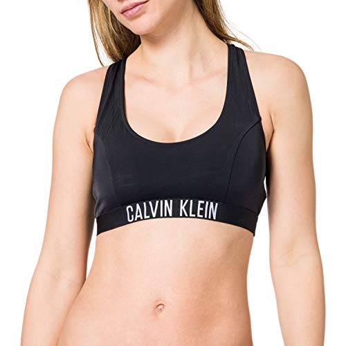 Calvin Klein Bralette-RP Parte Superior de Bikini, Pvh Negro, XL para Mujer