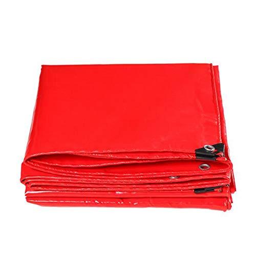 Dall bâche Bâche Épais Imperméable Anti-Corrosion Camping De Plein Air Tissu De Pluie (Couleur : Rouge, Taille : 4×4m)