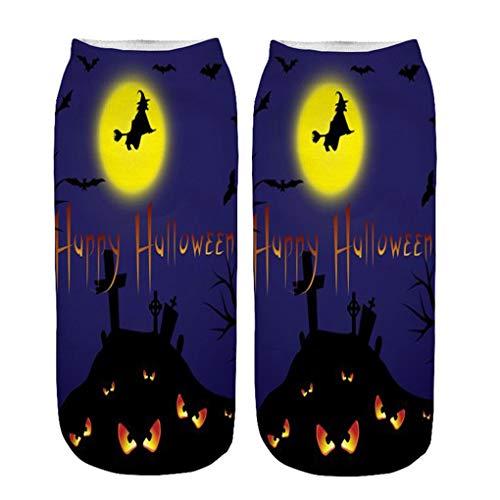 Skxinn Unisex Winter Sportsocken,Halloween Pumpkin Bedruckte Kurze Socken/Lässige Niedliche Söckchen für Frauen,Weihnachtsdruck 3D Socken(Z01-J)