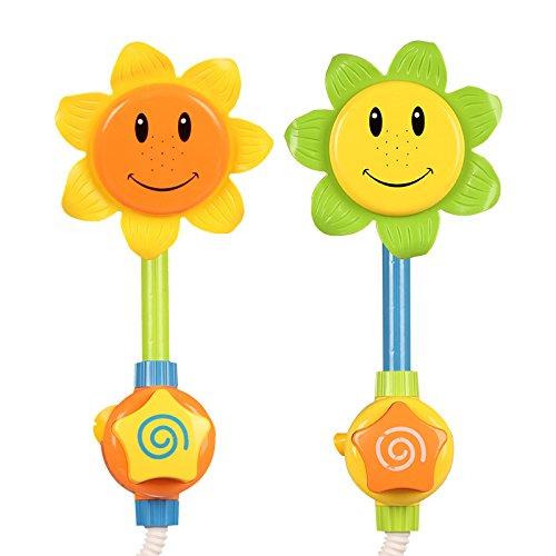 Da.Wa 1 Stück Duschspielzeug Baby Badespielzeug Sonnenblume Dusche Spray Bad Spiel, Farben Zufällige A
