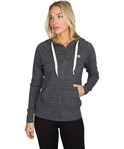 Dry Fit Sweatshirts for Women - Zip Up Hoodie Sweater Jacket with Dual Pockets Anthracite Black