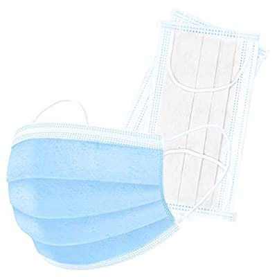 LOVE trends LT-50-PC Polypropylene 3-layer protective masks with ear hooks, blue, 50 pieces