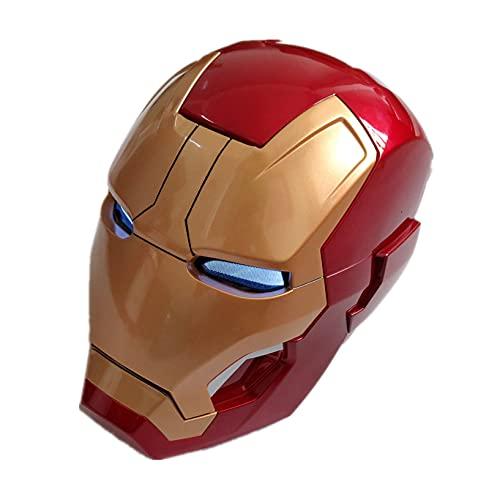Nuitab Casco de Iron Man Fiesta de Halloween para Niños Máscara Facial Vengadores Película Cubierta para la Cabeza Juguete de Juego Superhéroes Modelo,Manual Open