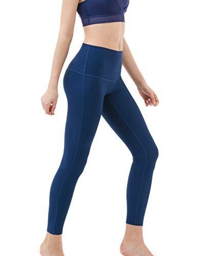 Tesla TM-FYP42-NVY_Medium Yoga Pants High-Waist Tummy Control w Hidden Pocket FYP42