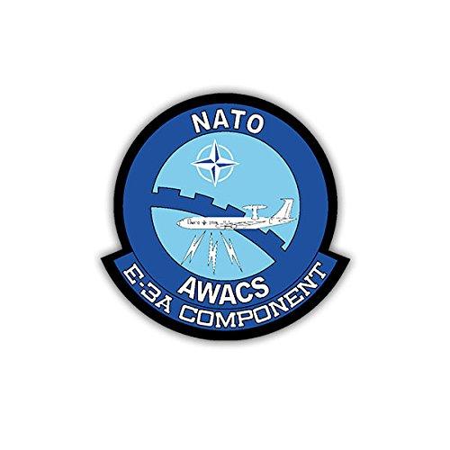 Stickers/Sticker - NATO AWACS Bundeswehr BW vliegtuig E-3A component sticker sticker wapen logo 7x7cm #A1683