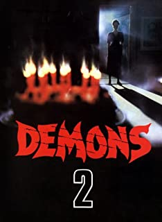 Demons 2: The Nightmare Returns Movie Poster (11 x 17 Inches - 28cm x 44cm) (1986) Style B -(David Edwin Knight)(Nancy Brilli)(Coralina Cataldi Tassoni)(Bobby Rhodes)(Asia Argento)