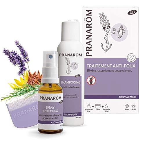 Pranarôm - Aromapoux Traitement Anti-Poux Aux Huiles Essentielles Bio - Shampooing et Lotion répulsive