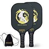 Pickleball Set, Pickleball Paddles, Pickleball Paddle Set of 2, Healthy Sport Padel Racket with Pickleball Bags for Men as Pickleball Gifts for Women Beach Ball Game Outdoor