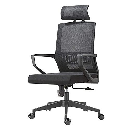 n.g. Wohnzimmerzubehör Freizeitstühle Bürostuhl Kippfunktion Ergonomisch 360 Grad drehbar Hohe Rückenlehne Kopfstütze Netzstuhl Verstellbare Sitzhöhe Langlebig stark