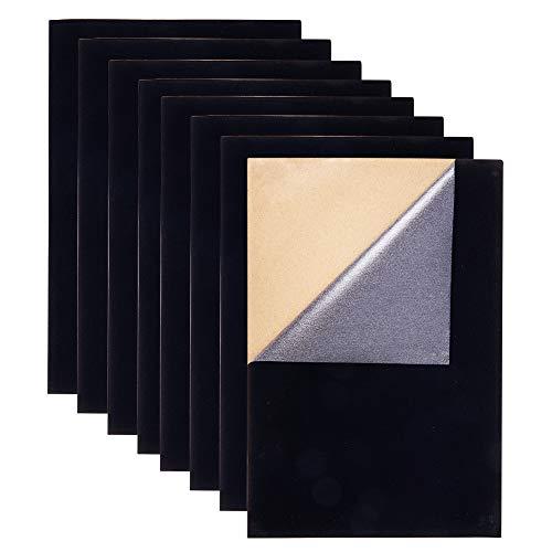 BENECREAT 20PCS Velvet (Black) Stoff Klebrige Rückseite Klebstoff A4 Blatt (21 x 30 cm), selbstklebend, langlebig und wasserdicht, vielseitig verwendbar, ideal für Kunst und Handwerk