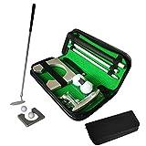 Fancylande - Set de entrenamiento de golf portátil para interior y exterior, juego de regalo con putter