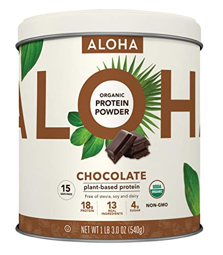 Plant-Based Protein Powder | Organic Chocolate Keto Friendly Vegan Protein with MCT Oil, 19 oz, Makes 15 Shakes, Vegan, Gluten Free, Non-GMO, Stevia Free & Erythritol Free, Soy Free, Dairy Free & Only 4g Sugar