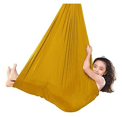 SHUHANG Sensorial Columpio Interior Aéreo Yoga Gorra y Chaquetilla de Jockey Hamaca de Columpio de Terapia para Niños o Adultos (Color : K, Size : 400x280cm)
