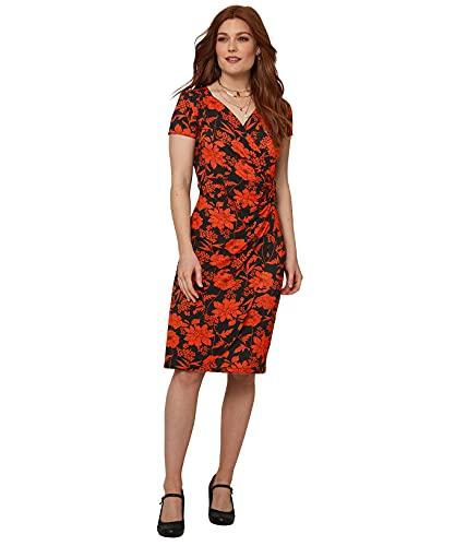 Joe Browns Beautiful Printed Dress Vestito Casual, Nero/Arancione, 50 Donna