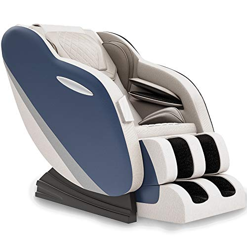 Full Body Massage Chair S Track Recliner with Rocking Function, Yoga Stretch, Heating, Bluetooth for Office Home