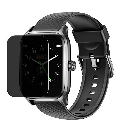 """Puccy Privacy Screen Protector Film, compatible with Letsfit EW1 1.3"""" Smartwatch Smart watch Anti Spy TPU Guard ( Not Tempered Glass Protectors )"""